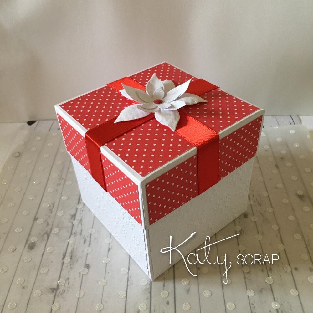 KRABIČKA /darování peněz vánoční červená IHNED